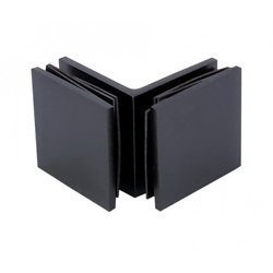 45 mm Square  90° Connector (Glass-to-Glass) / Matte Black