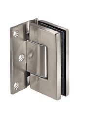 Frameless Door  Spring 90° Hinge with self-closing function / Satin