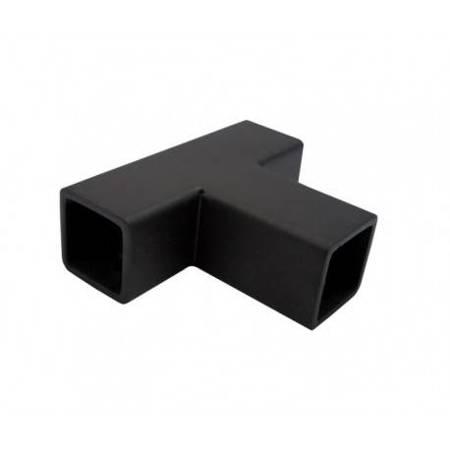 15 mm Square 3-Way Joint / Matte Black