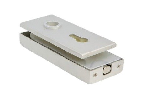 Glass Door  Magnetic Lock prepared for Cylinder and Handle