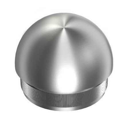 Ball End Cap for Ø 42.4x2 mm  Pipe /Satin, Polish