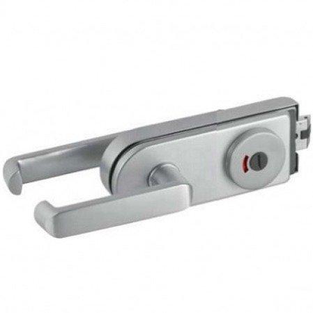 Bathroom Glass  Door Lock with Handle and Blockade function