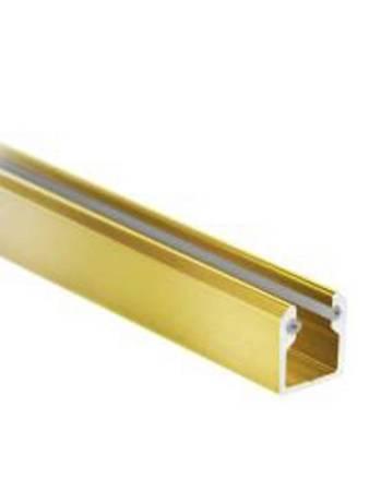 Brass Polish U Channel with Gaskets / L=230 cm
