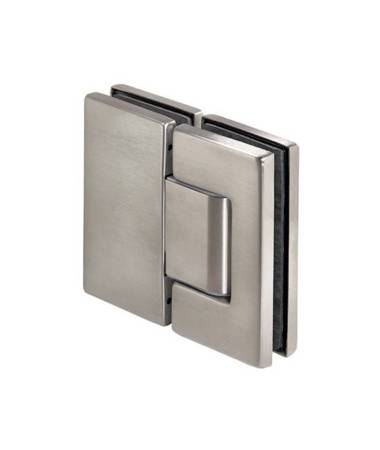 Frameless Door Spring 180° Hinge (wall-glass) with self-closing function / Satin