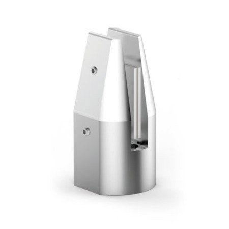 Glass Balustrade Minipost, H=141 mm, anodized aluminium