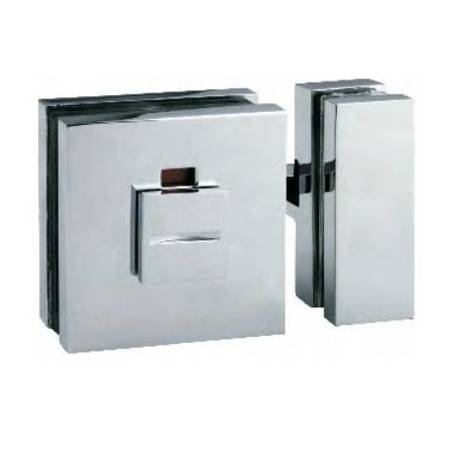 Glass Door Lock (Glass-Glass) /  Satin, Polish