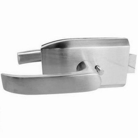 Glass Door Lock with Handle /Satin, Polish