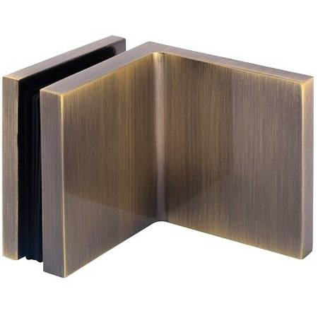 Shower 50x65 90° Wall-Glass Clamp / Old Gold finishing